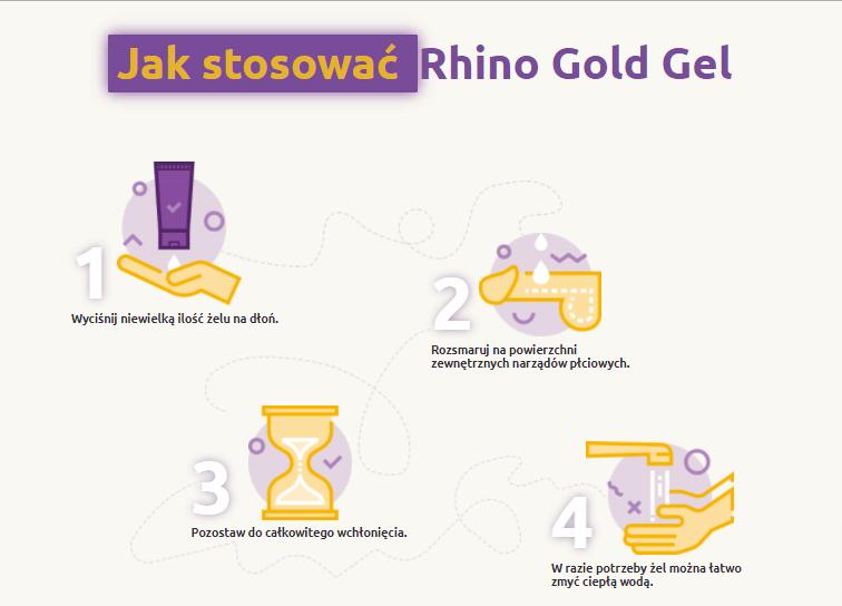 rhino gold gel jak stosować  używać nakładać
